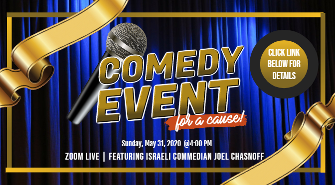 """""""Laughter Is Therapeutic"""" Comedy Event, 5/31, 4 PM"""