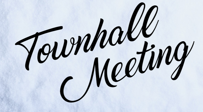 Town Hall Meeting, Sunday, November 24th at 11 AM
