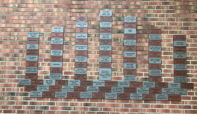 TBEMC Wall of Community: commemorative wall tiles, engraved with an inscription of your choosing