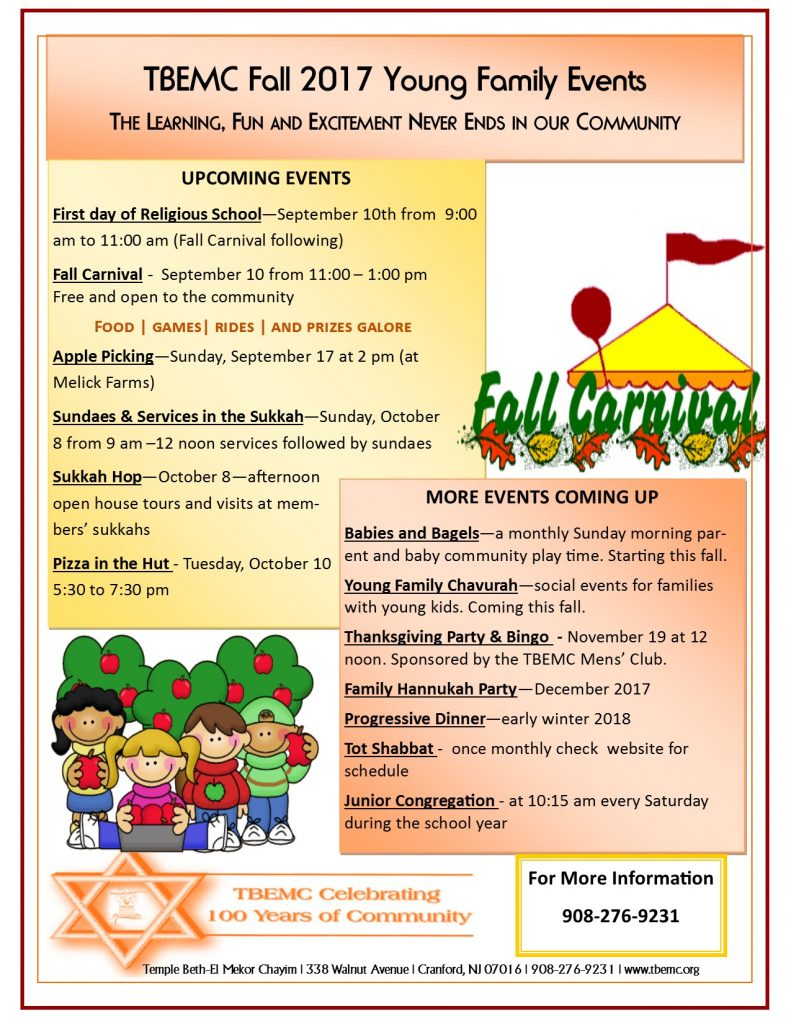 Young Family Events Fall 2017