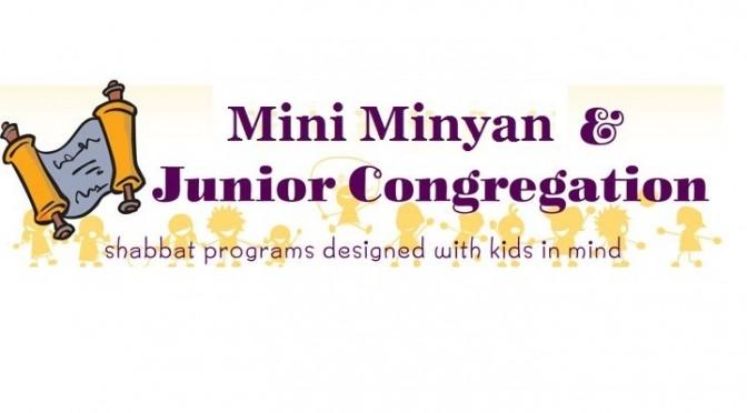 Jr. Congregation and Mini Minyan, Sat., Dec. 20th at 10:15 A.M.