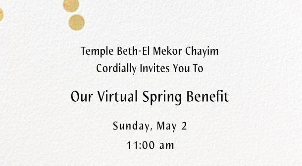 Spring Benefit, May 2nd, 11:00 AM