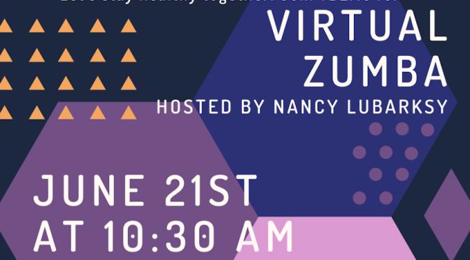 Virtual Zumba Class, June 21, 10:30 AM